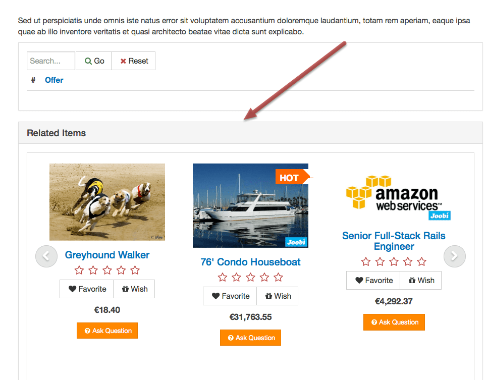 you can use the related items categories or to find best ecommerce website builder for small business with this feature